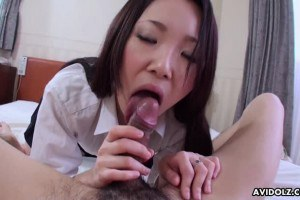 Lovely and skinny Japanese beauty gets fucked