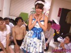 Tiny Japanese In Maid Costume Gang Bang Covered In Cum