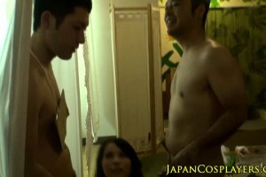 Amateur Jap Girl In Swimsuit Fuck By Two Jap Guy