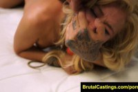 Tied Blonde Teen Brutally Fucked