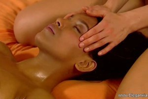Gorgeous beauties in massage action