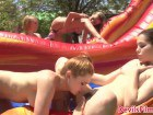 Young college sluts in outdoor lesbian action
