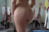Two blondes fucking in art class