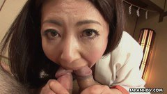 Slutty mature asian in threesome