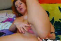 Redhead Fingering Both Of Her Holes
