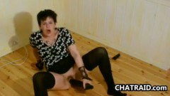 Mature Woman Fucking Herself On The Floor