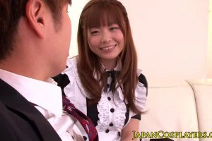 Cute Japanese fucking as a maid