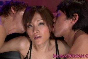 Japanese Hot MILF In Lingerie Too Excited For Cocks