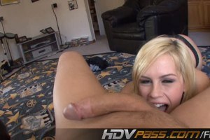 Blonde With Perky Boobs Sucking Huge Dick POV