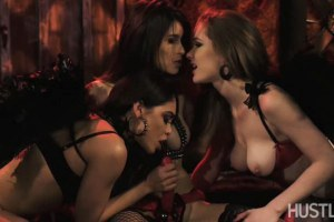 Three stunning lesbian devils playing