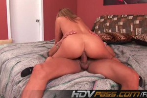 Busty Brunette Riding Big Cock Like A Champ