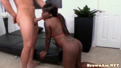 Bootyshaking ebony boned doggystyle