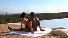 African Couple Having Hot Sensual Intercourse By The Pool