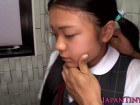 Young asian swallowing cum