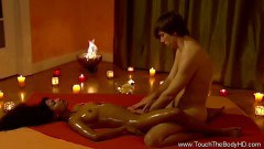 Candle light pussy fingering