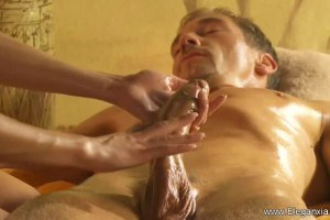 Brunette Performing Body And Cock Massage For Energy Replenish