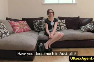 Australian hottie auditions for porn in the UK