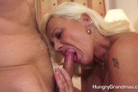 Horny blonde mature is crazy for the young cock
