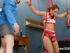 Bound beauty gets hanged
