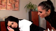 Brunette office whore gets whipped