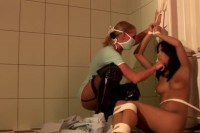 Craving brunette sub gets tormented by a blonde lezdom