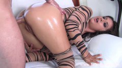 Inked cougar Jynx Maze gets her round ass fucked hard