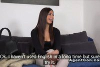 Splendid brunette amateur tricked and fucked by a fake agent