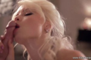 A very artistic blowjob experience with a heavenly blonde MILF