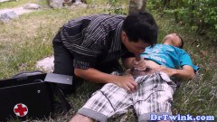 Horny asian doctor in gay sex