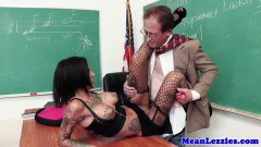 Nasty lesbians in classroom and office sex