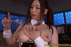 Naughty asian babe sucking