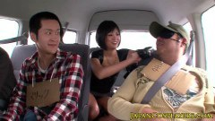 Japanese starlet Kyoko Maki and her friends ride cocks in a van