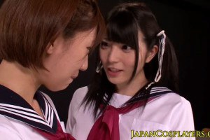 Lovely Japanese teens squirting