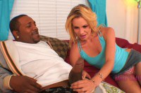 Tiny blonde beauty takes cock deep