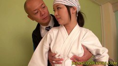 Sweet Japanese ninja fucked in the face