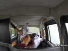 British cosplay amateur fucked hard in the taxi