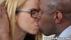 Cute teen fucked by a mature black cock