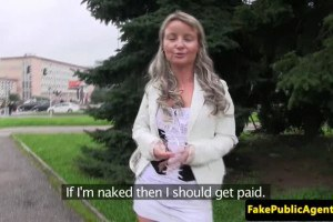 Horny blonde fucking for cash