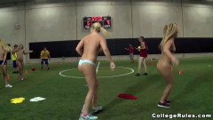 Horny sluts palying some sexy dodgeball
