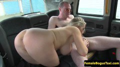 Domina cab driver gets a titty cumshot from unsuspecting passenger