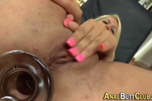 Nasty Blonde Playing Her Holes With Toys