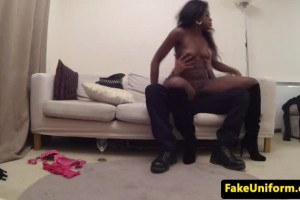 Hot ebony convict fucked by the horny cop