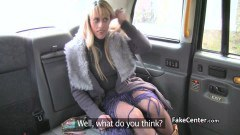 British MILF in fishnets gets her ass fucked in the cab