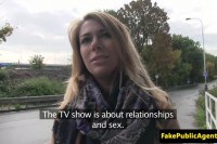 Blonde Slovakian amateur fucked in public by a stranger