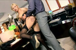 MILF secretary Donna Bell ass fucked at the office by her boss