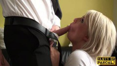 Sexy blonde British gets nailed