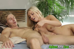 Blonde cutie experiments with toys and handjobs before sex