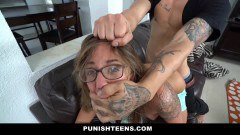 Tattooed Layla London in harsh fuck