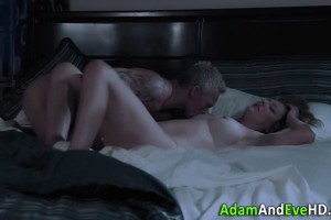 Mature couple having sensual fucking on their bed