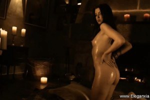 Stunning Indian MILF teases with her oily body